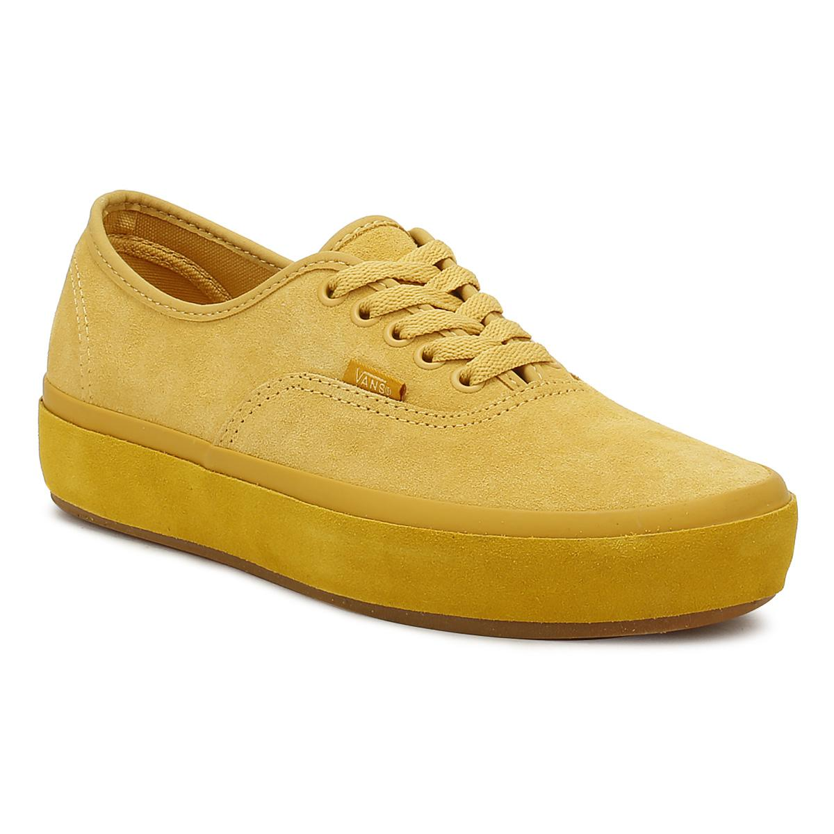 00ae64480f Vans Womens Ochre Yellow Authentic Platform Trainers in Yellow - Lyst