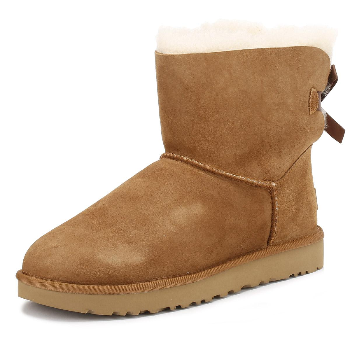UGG UGG Womens Chestnut Brown Mini Bailey Bow Ii Boots in Brown - Lyst 1cb478a846c