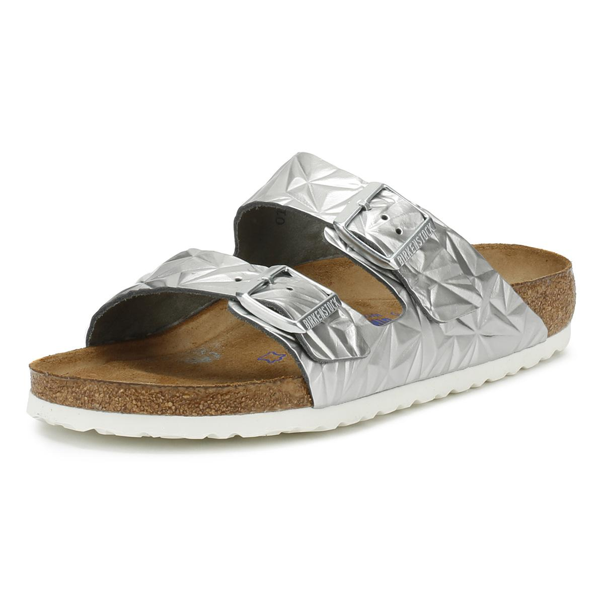 6a4d534cdf21 Birkenstock - Metallic Womens Spectral Silver Arizona Sandals Women s Mules    Casual Shoes In Silver -. View fullscreen