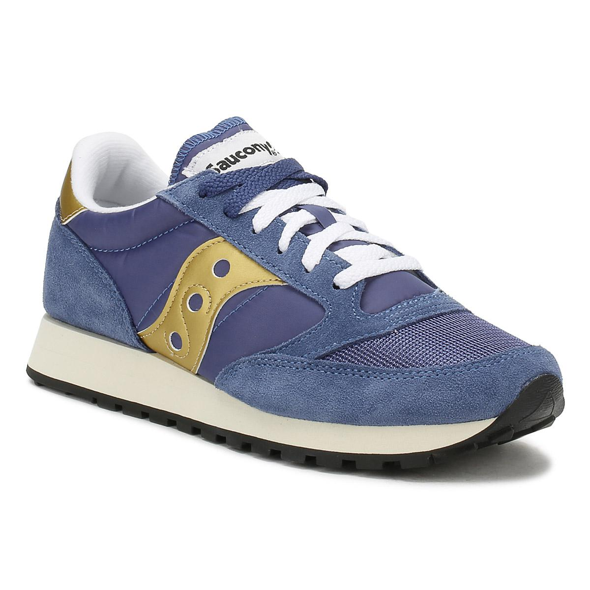save off 1e7c2 c121b Saucony Blue Womens Navy / Gold Jazz Original Vintage Trainers
