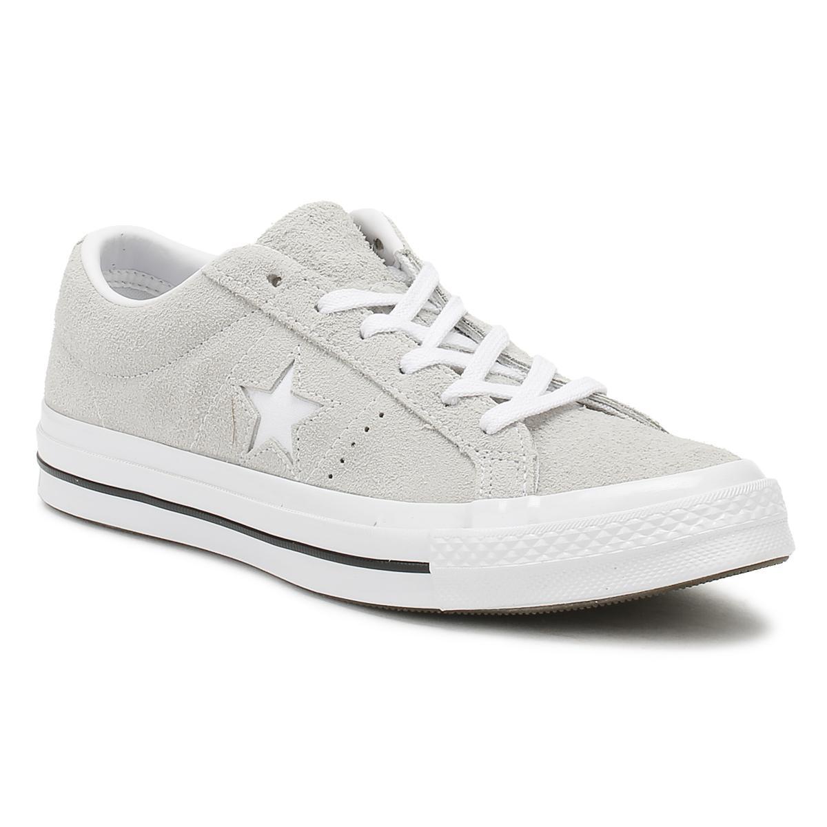 f4b21c715738 Lyst - Converse One Star Mens Ash Grey Premium Suede Ox ..
