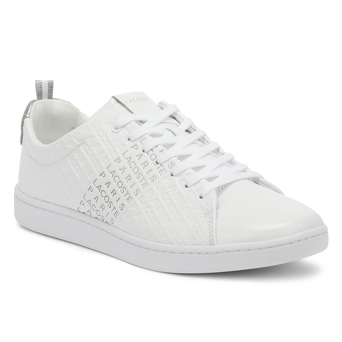 c1c8a1fbd7437 Lyst - Lacoste Carnaby Evo 119 3 Womens Off White Trainers in White