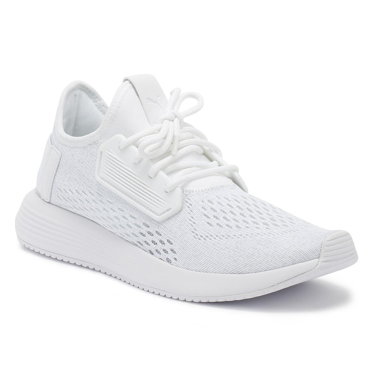 eb27b54d57190d PUMA Mens White Uprise Mesh Trainers in White for Men - Save 37% - Lyst