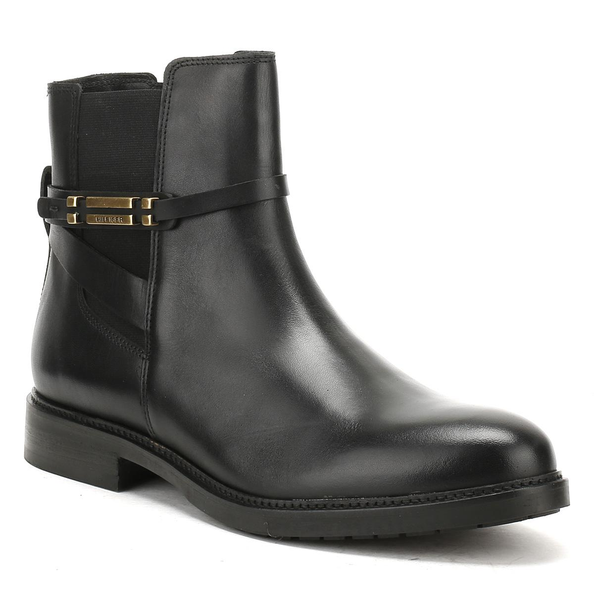 ac1d8eb88e0 Tommy Hilfiger Womens Black Holly 15a Ankle Boots