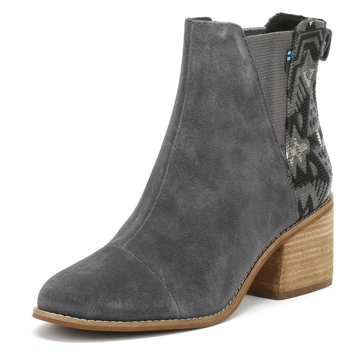 439d3274e93 Lyst - TOMS Esme Womens Grey Jacquard Suede Boots in Gray
