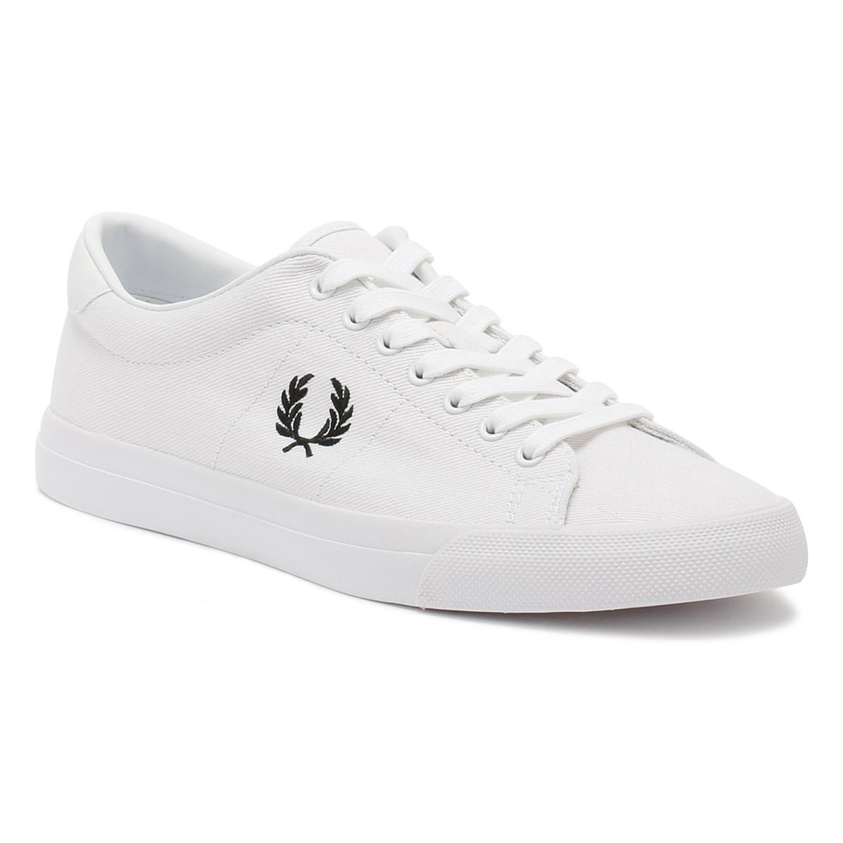 Fred Perry Mens White / Black Underspin