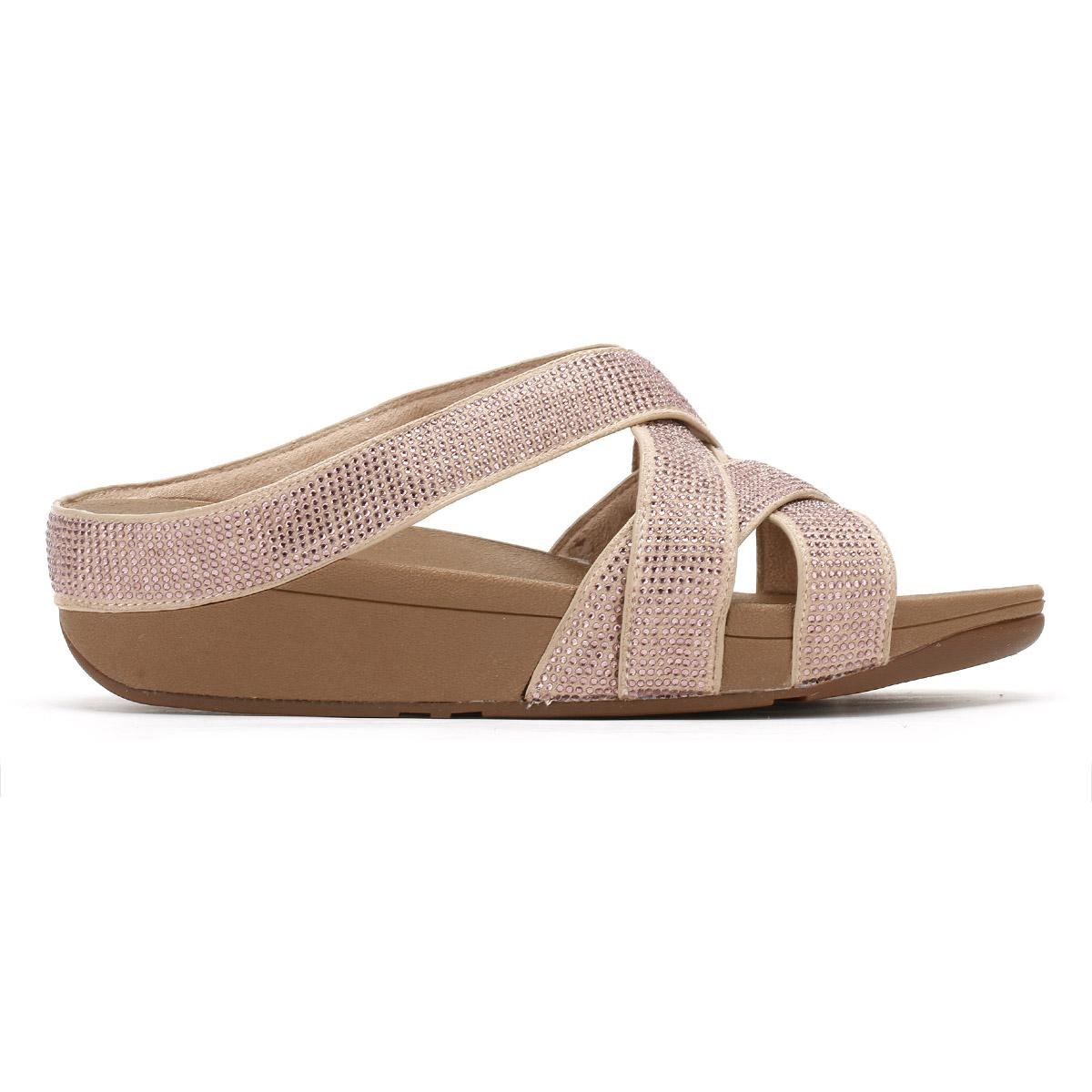 be582722d8bd82 Lyst - Fitflop Womens Nude Slinky Rokkit Criss-cross Sandals