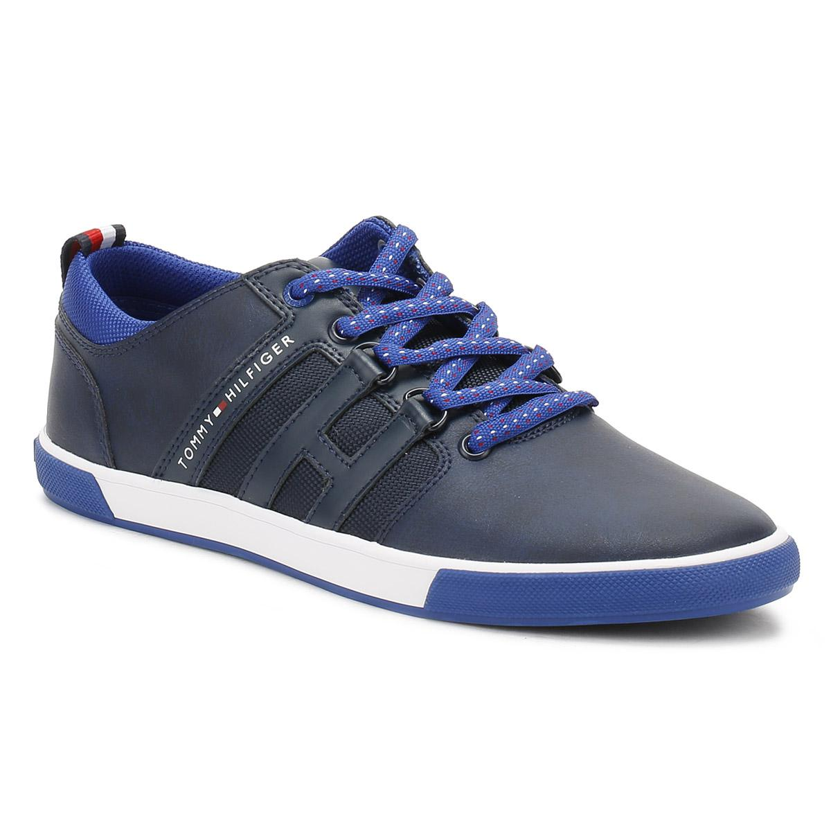 770109eeada2fb Tommy Hilfiger Mens Tommy Navy Milton 1a Trainers in Blue for Men - Lyst