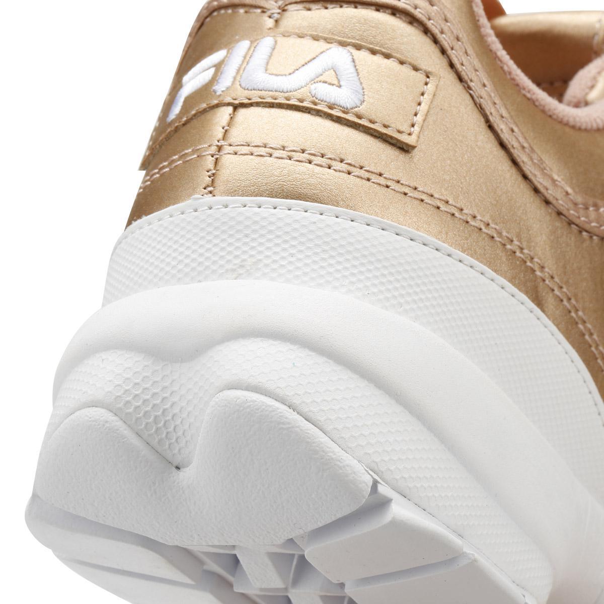 bab242633ad Lyst - Fila Disruptor Ii Womens Metallic Rose Gold Premium Trainers ...