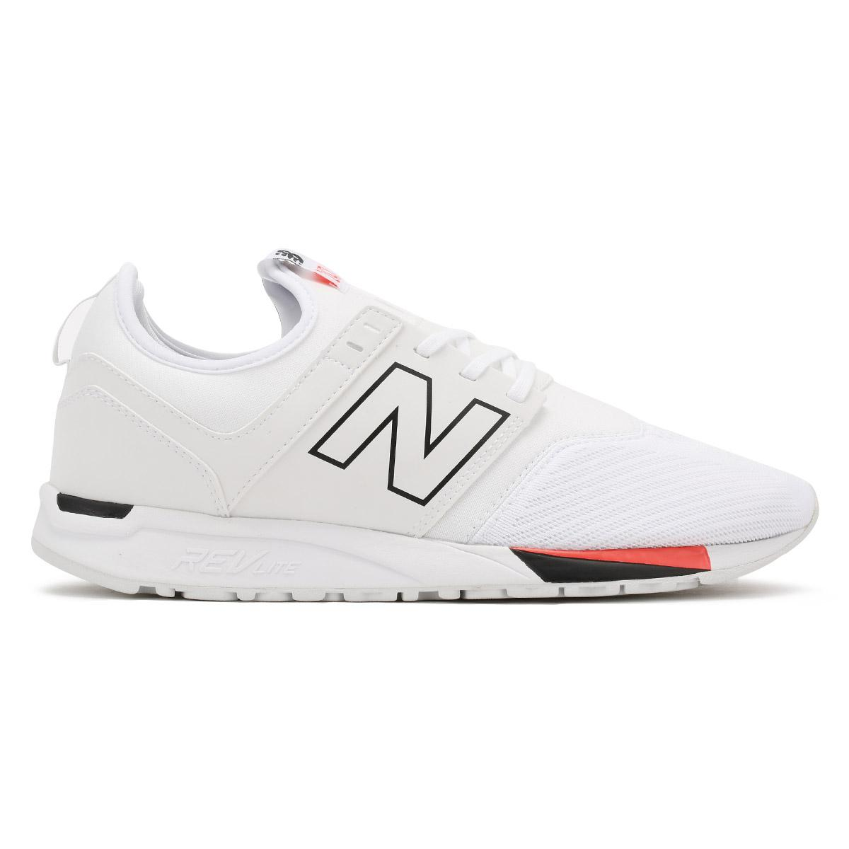 New Balance Mens White Black 247 Classic Trainers for men