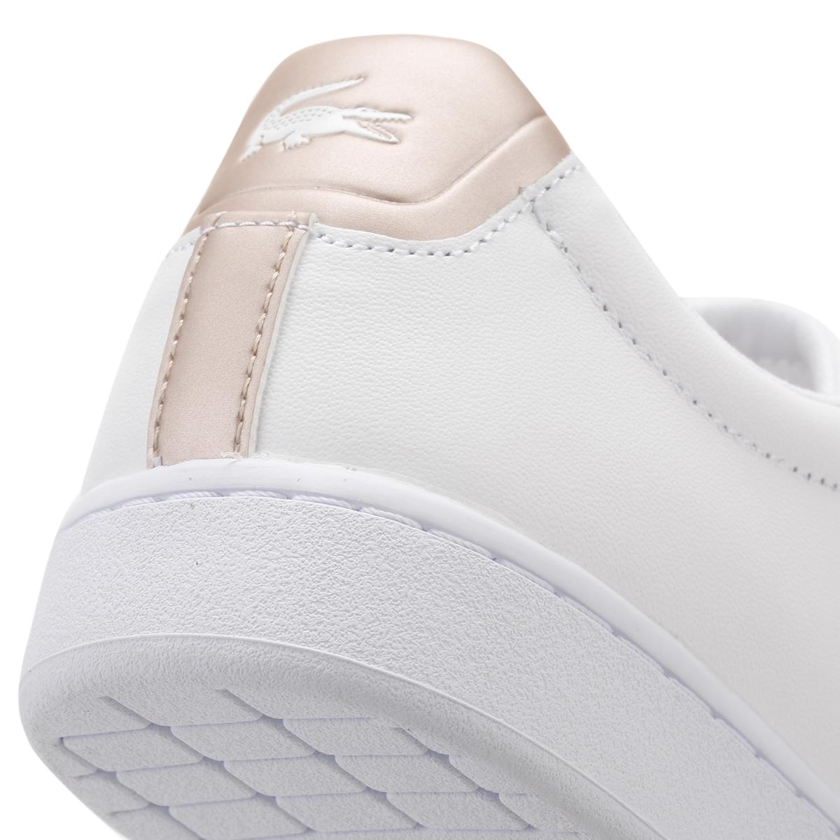 2a754afd2 Lyst - Lacoste Womens White light Pink Carnaby Evo 217 2 Spw ...