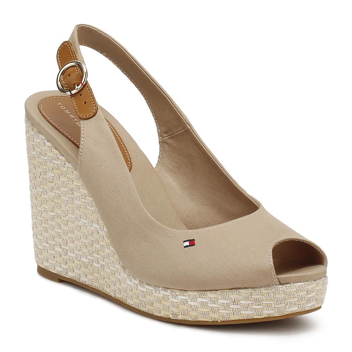 2599c2b6aa66 Tommy Hilfiger Womens Cobblestone Grey Elena Wedge Sandals in Gray ...