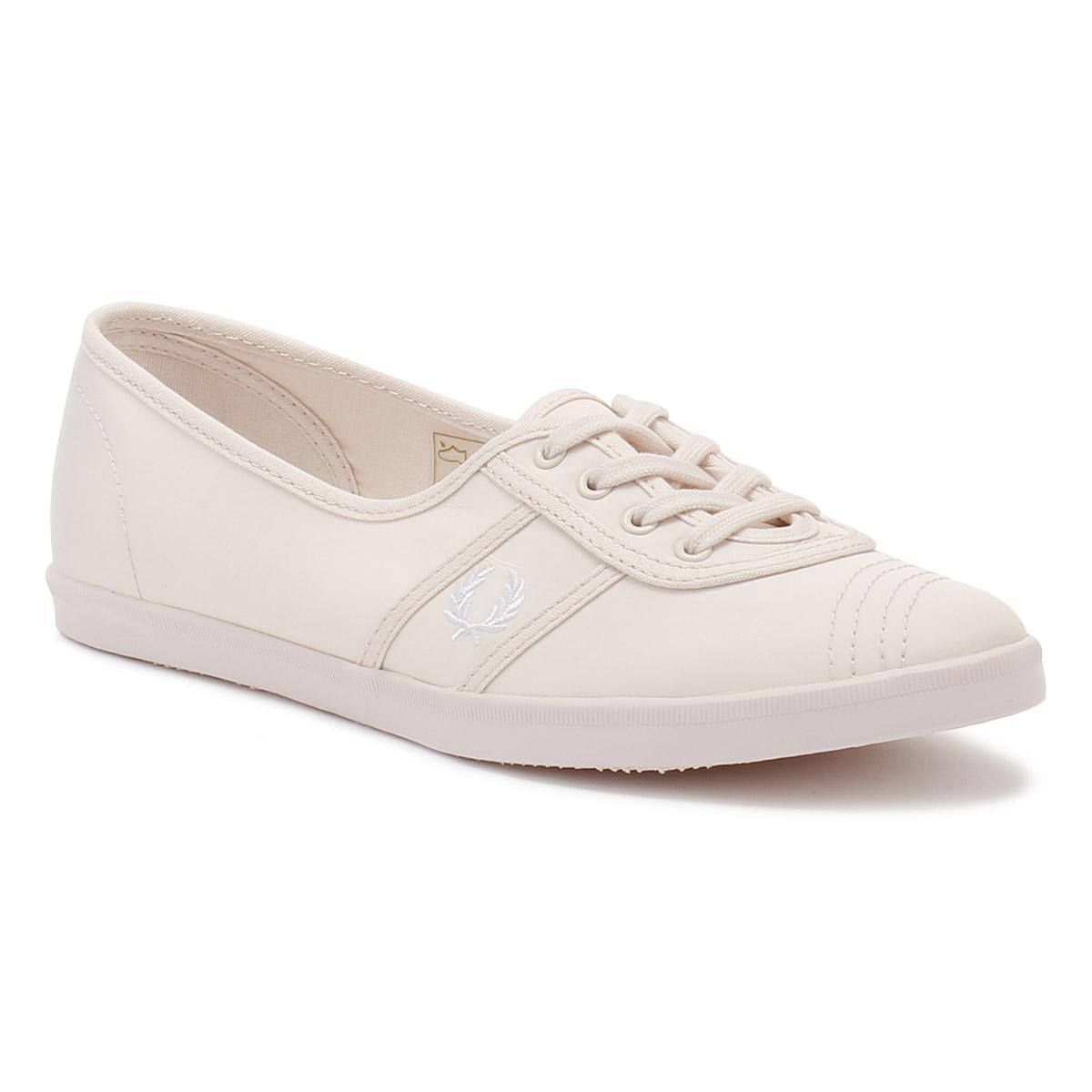 a6a4d31790 Fred Perry Womens Pink   White Aubrey Poly Trainers in Pink - Lyst
