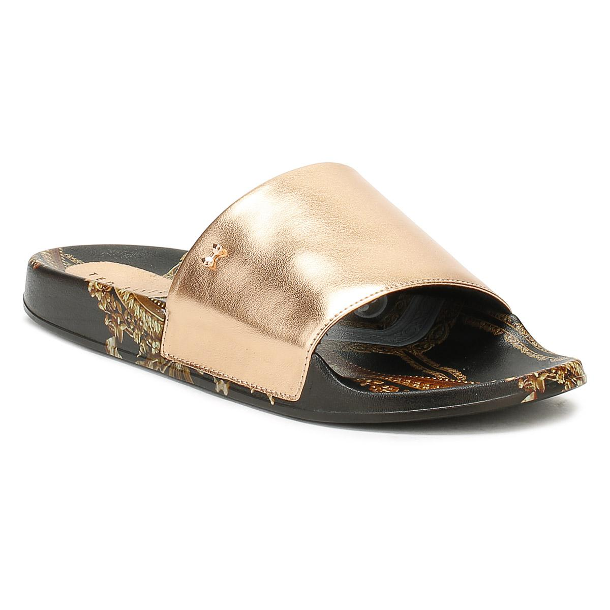 3ce942a7a Ted Baker Womens Black Aveline Slides in Black - Lyst