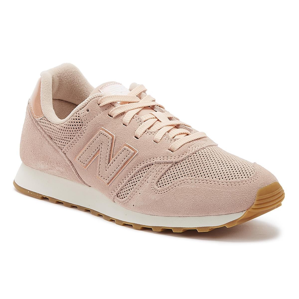 373 Womens Pink Suede Trainers