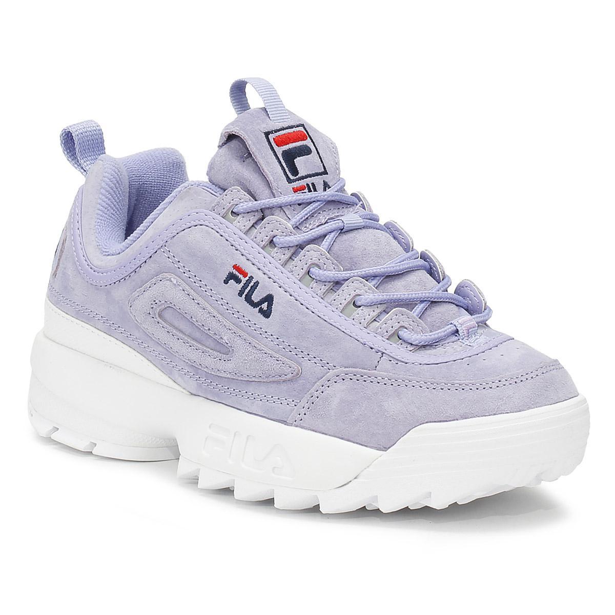 0090dba10f2 Fila Disruptor Ii Womens Sweet Lavender Premium Suede Trainers in ...