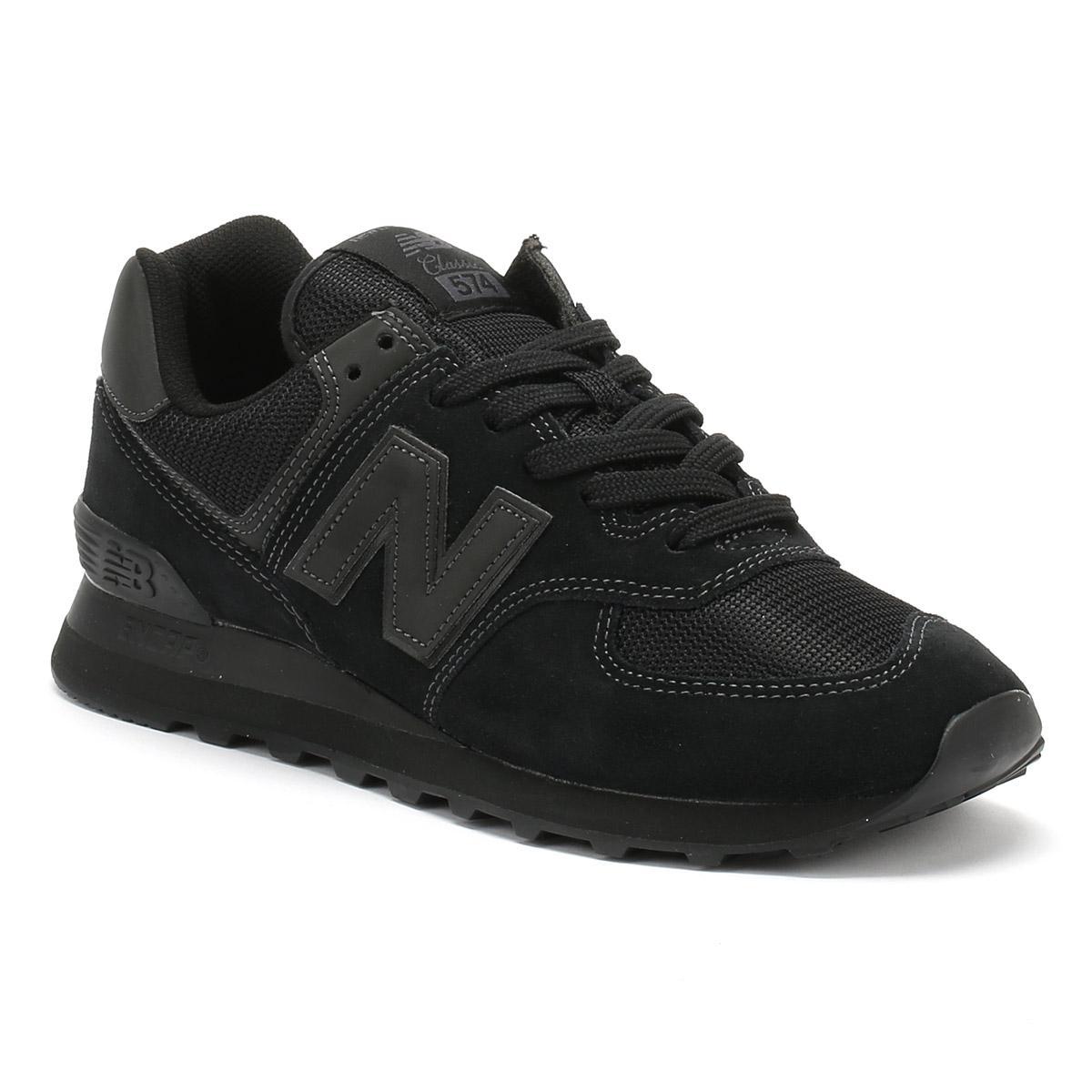 new styles d58f8 f4947 Mens Black 574 Classic Sneakers