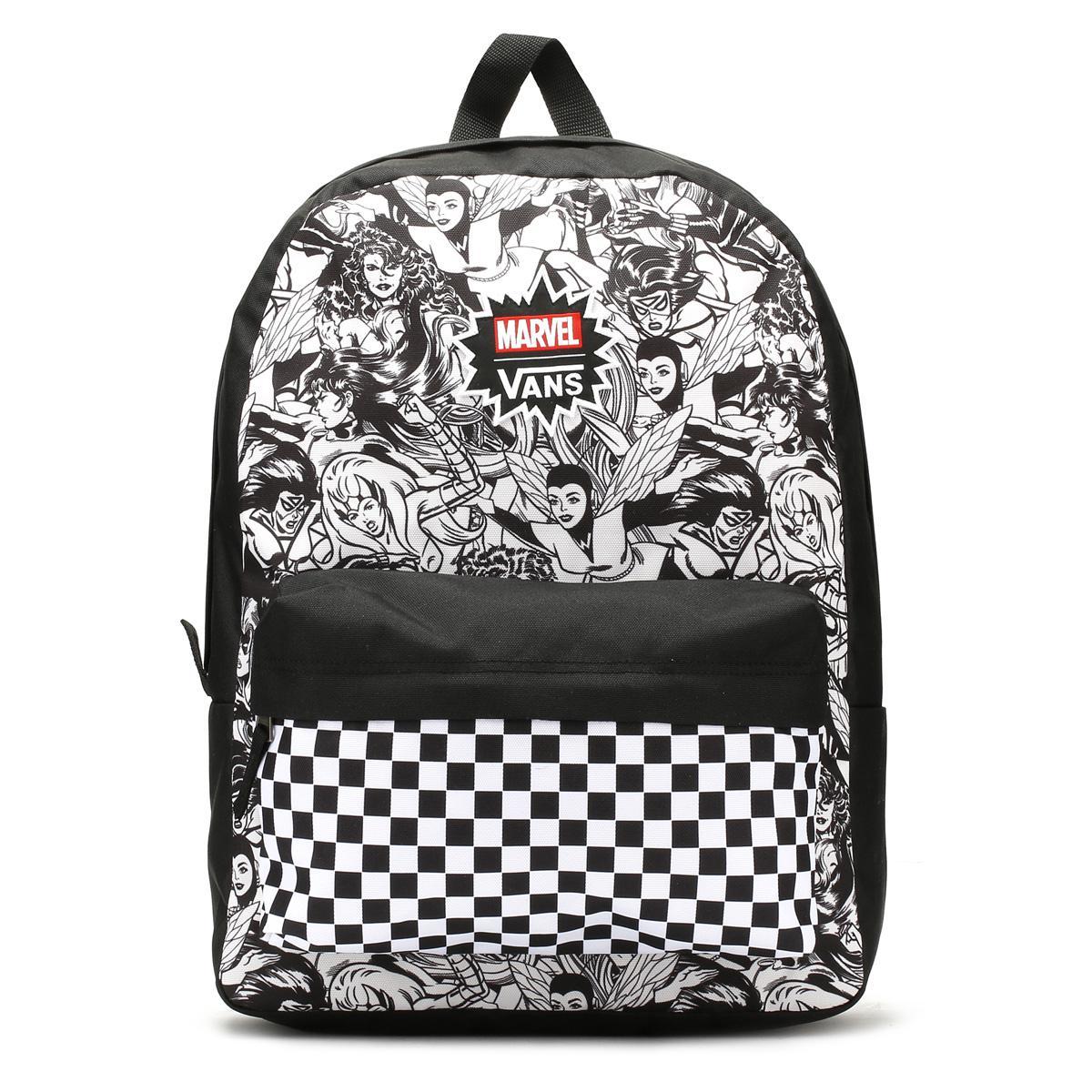 e001fafda9 Lyst - Vans Marvel Multi   Females Realm Backpack in Black