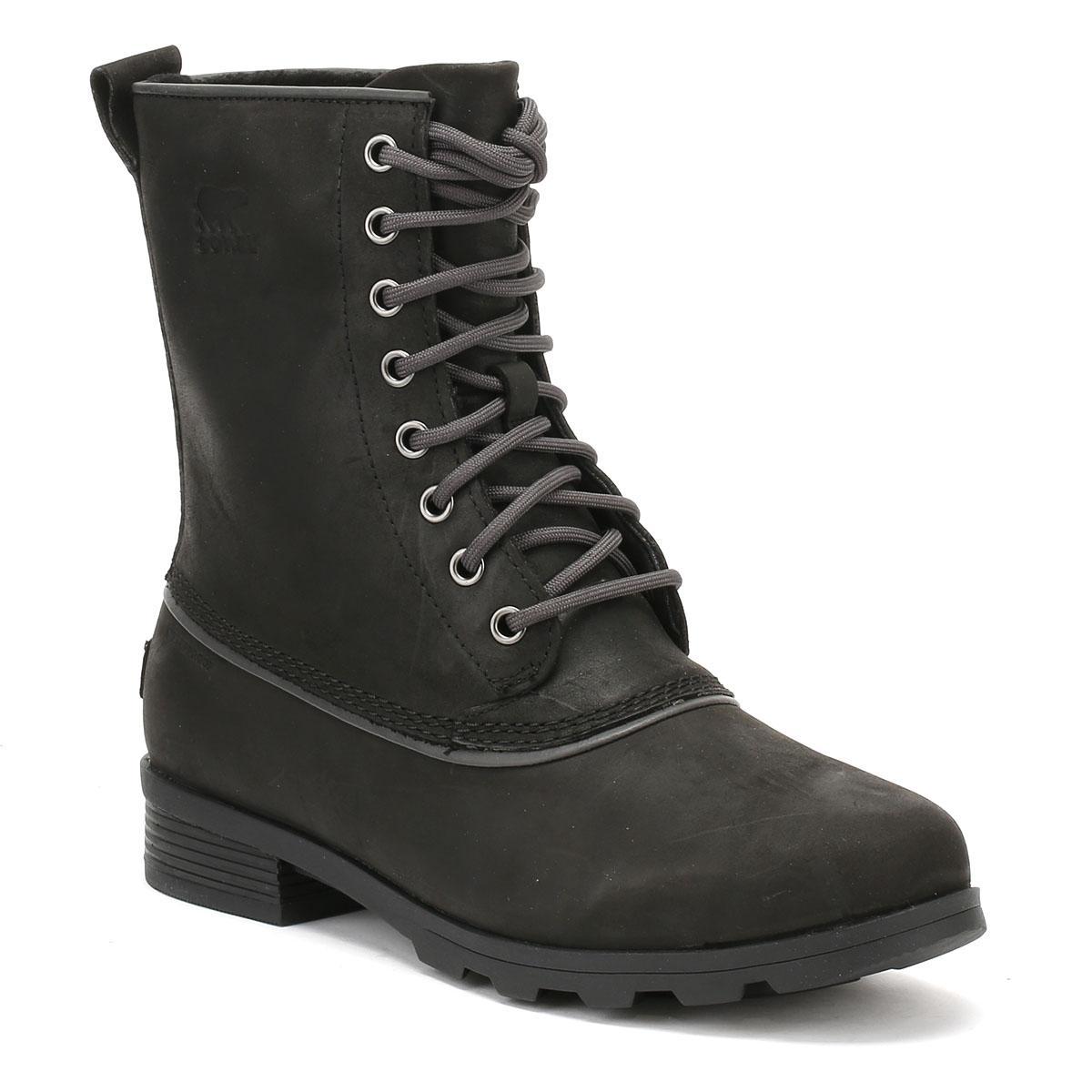 Sorel Leather Womens Black Emelie 1964 Boots Womens High -1314
