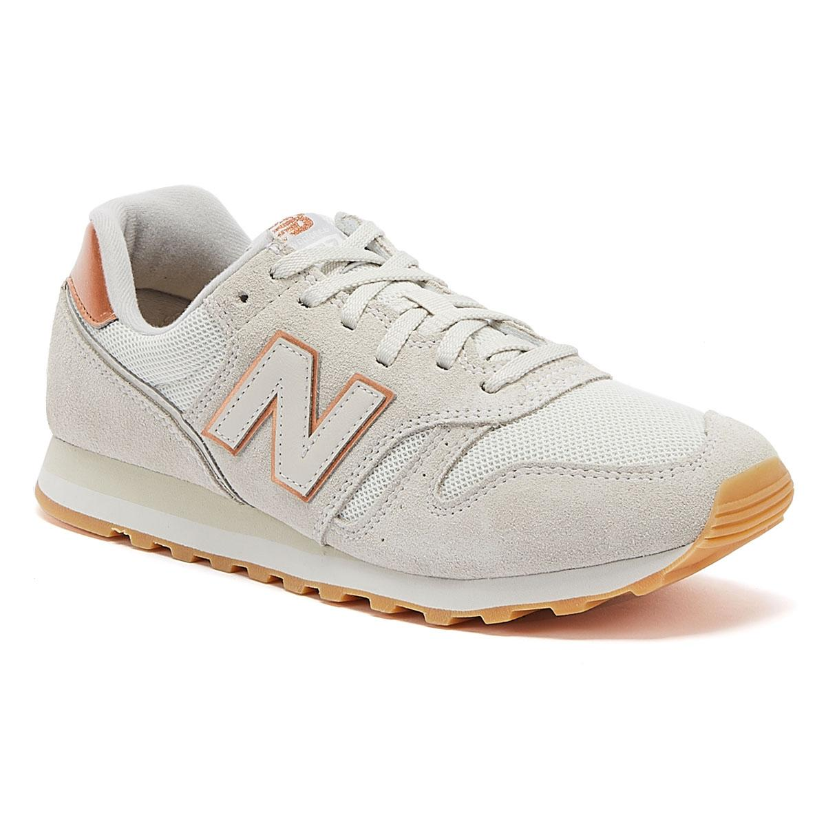 373 Womens Beige / Rose Gold Trainers
