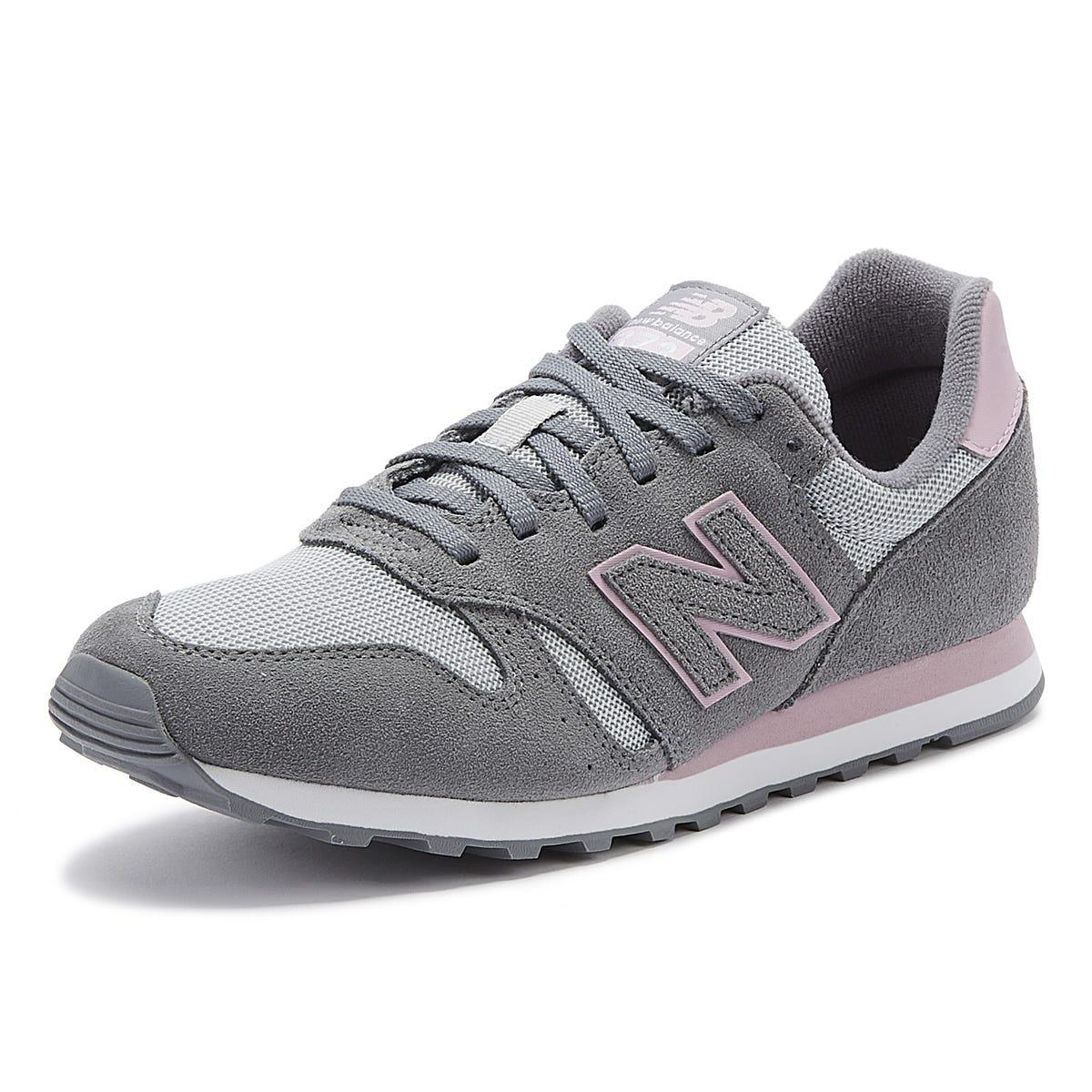 373 Womens Grey / Pink Trainers