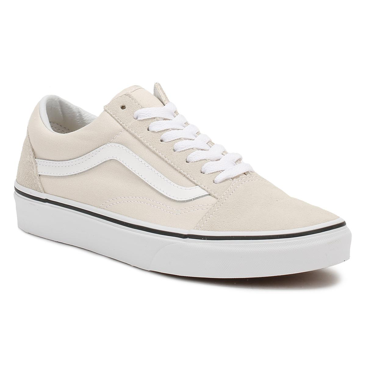 cdf7a5a90bb1 Vans Beige Suede Old Skool Trainers in White - Lyst