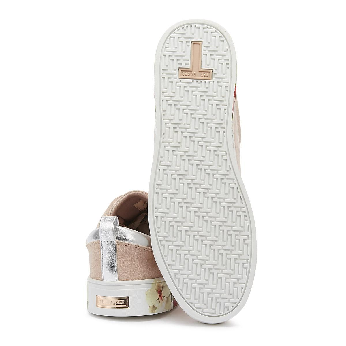 Ted Baker Roullys Womens Mint Choc Chip Nude Trainers Ladies Sport Casual Shoes
