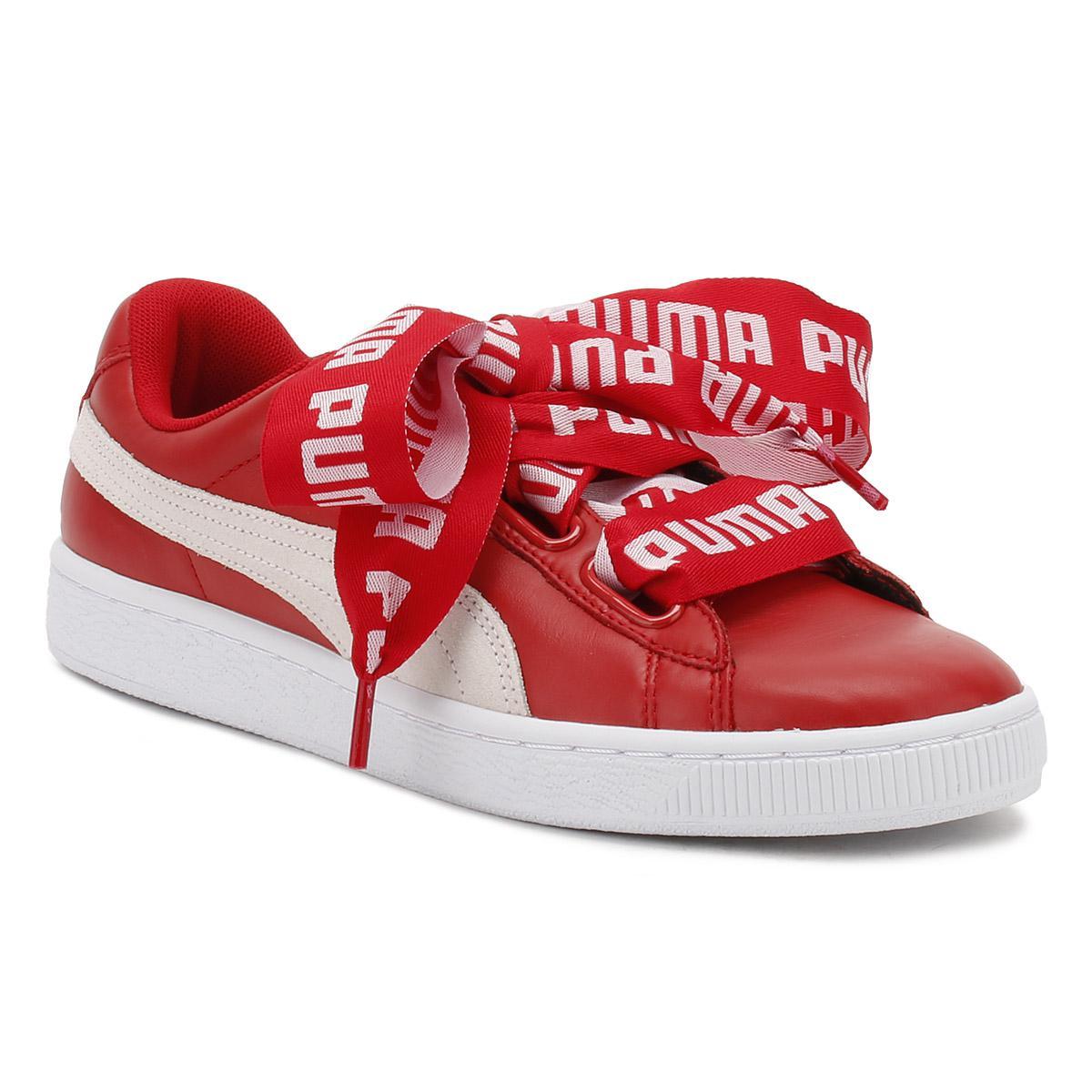 new style dc352 5355a PUMA Womens Toreador Red Basket Heart De Trainers