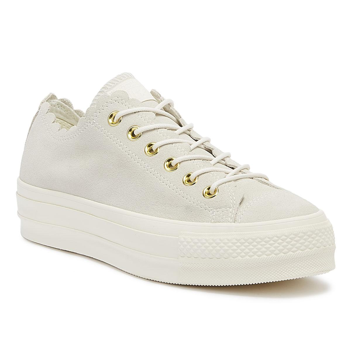 c043139b59cb Converse. Chuck Taylor All Star Lift Frilly Thrills Womens Egret Trainers
