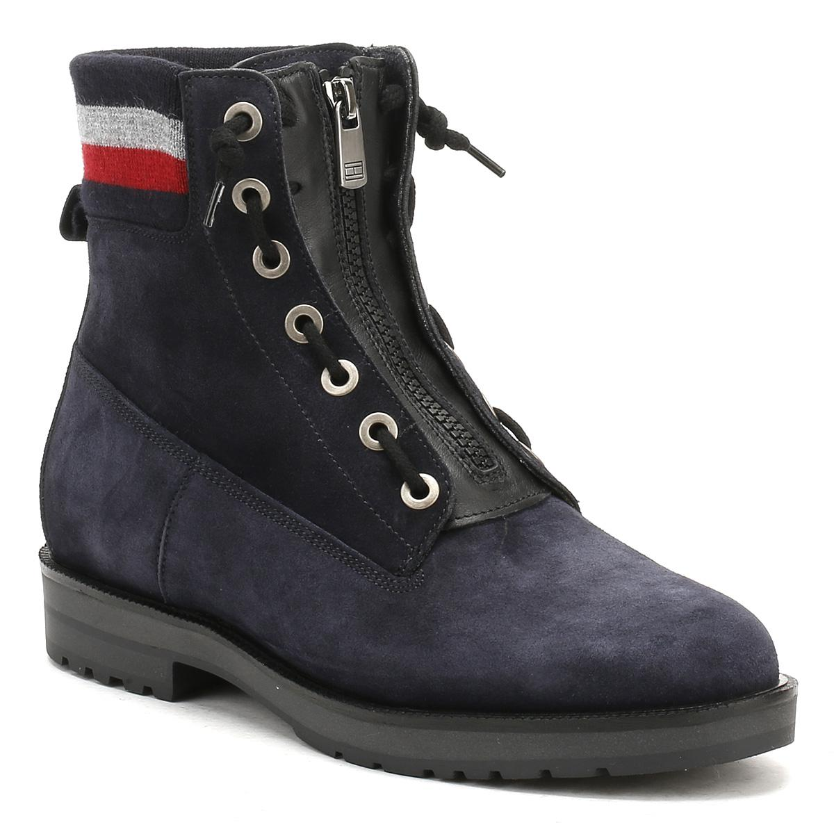 0e6c4ab4d6e18 Womens Midnight Blue West 9b1 Ankle Boots Women s Mid Boots In Blue