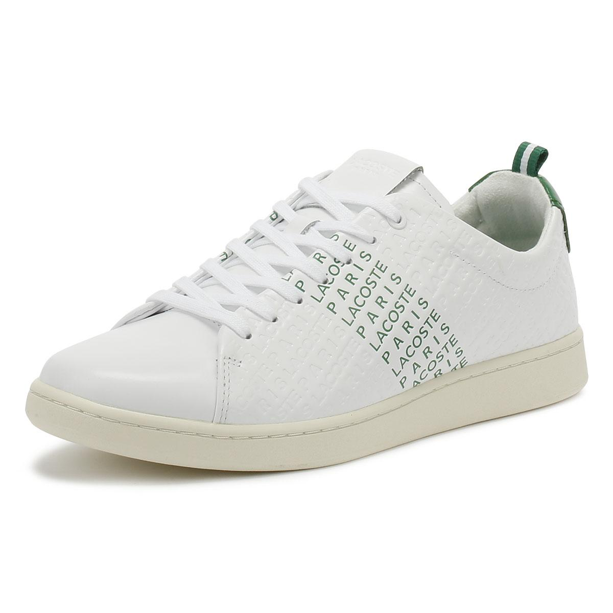 Green Trainers Sport Casual Shoes Lacoste Carnaby EVO 119 9 Mens White