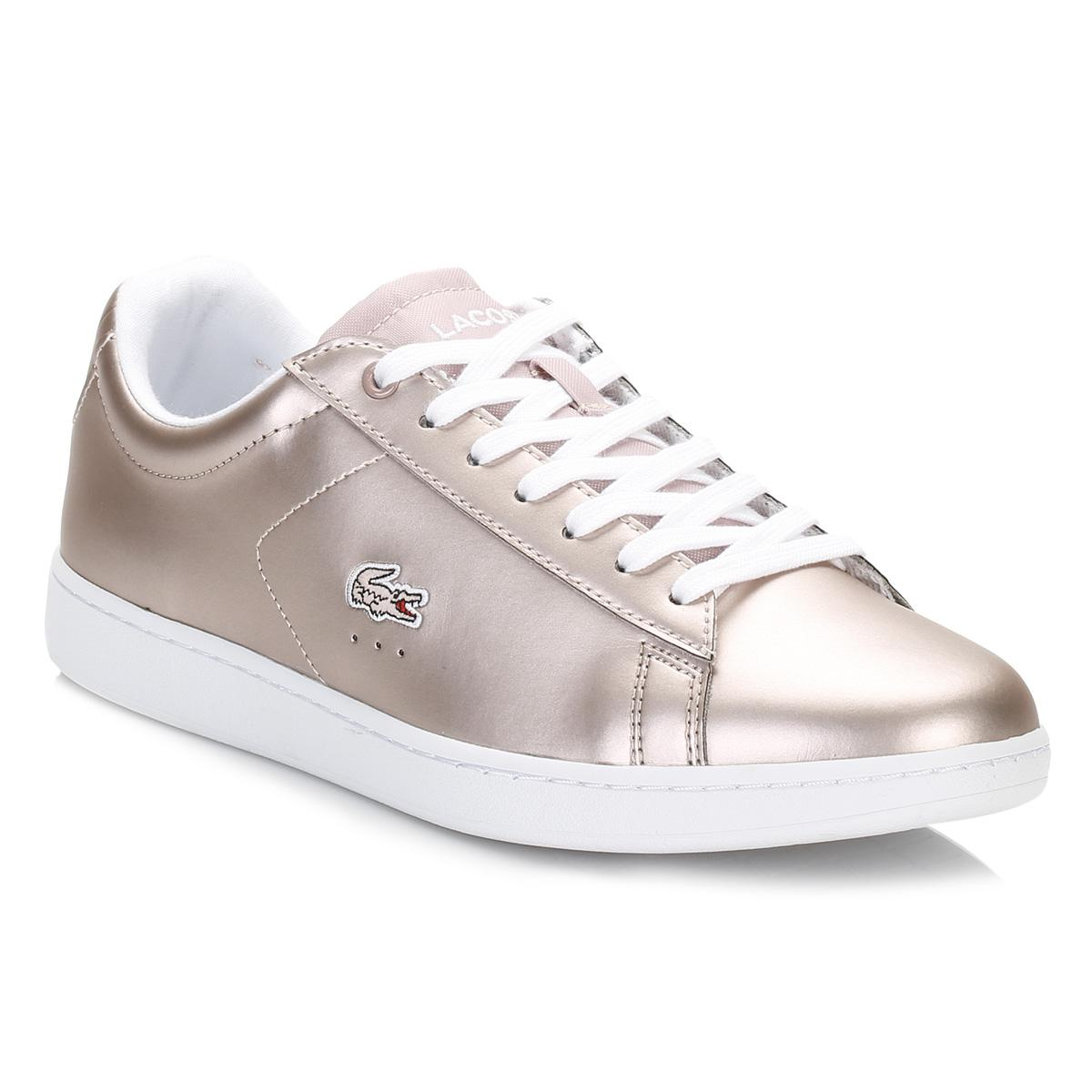 54c15906f Lyst - Lacoste Womens Light Pink Carnaby Evo 117 3 Spw Trainers in Pink