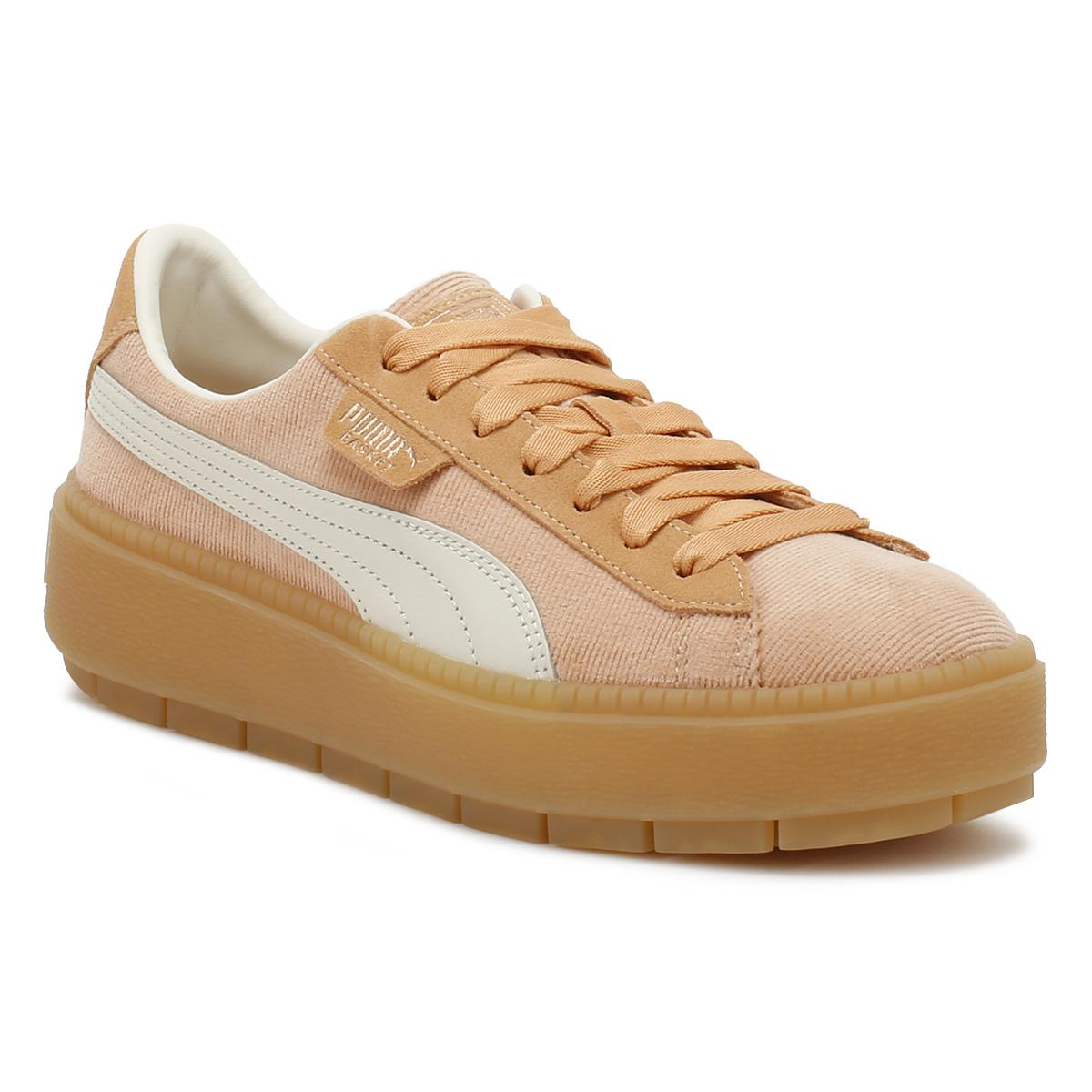 3efe1a6f26d8 Lyst - PUMA Womens Dusty Coral Corduroy Trace Platform Trainers in ...