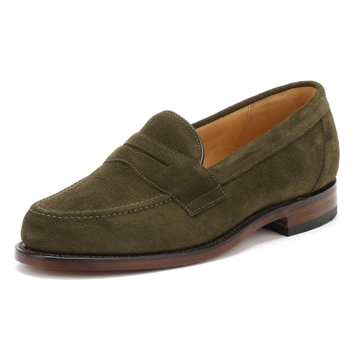 73e02c3245ab0 Loake Mens Green Eton Suede Loafers in Green for Men - Lyst