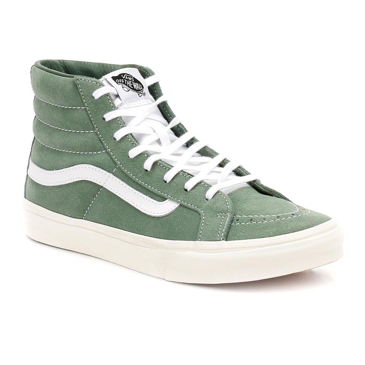 high top vans green