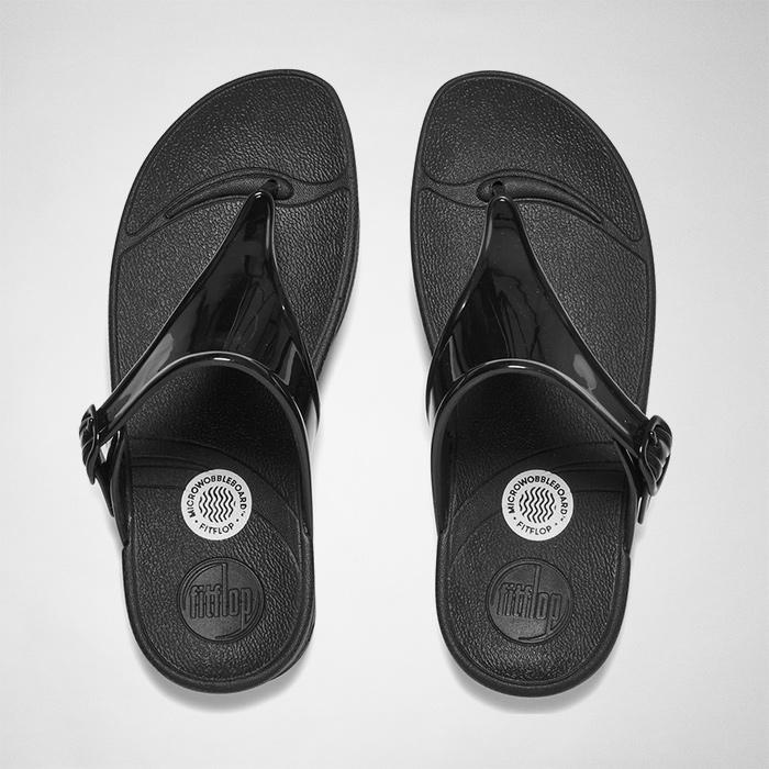 9d23c6f465038 Fitflop Super Jelly Flip Flops in Black - Lyst