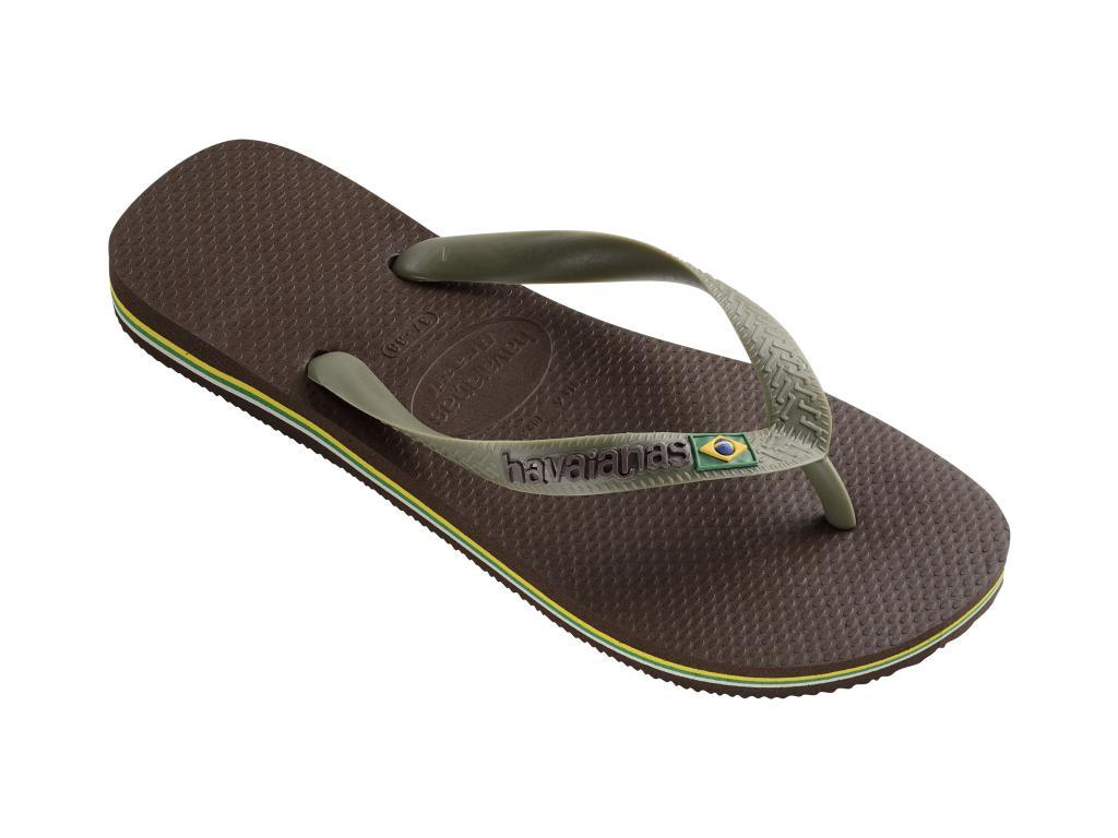 a44290f3530633 Havaianas - H.brasil Logo Darkbrown-dark Brown Flip Flops for Men - Lyst.  View fullscreen