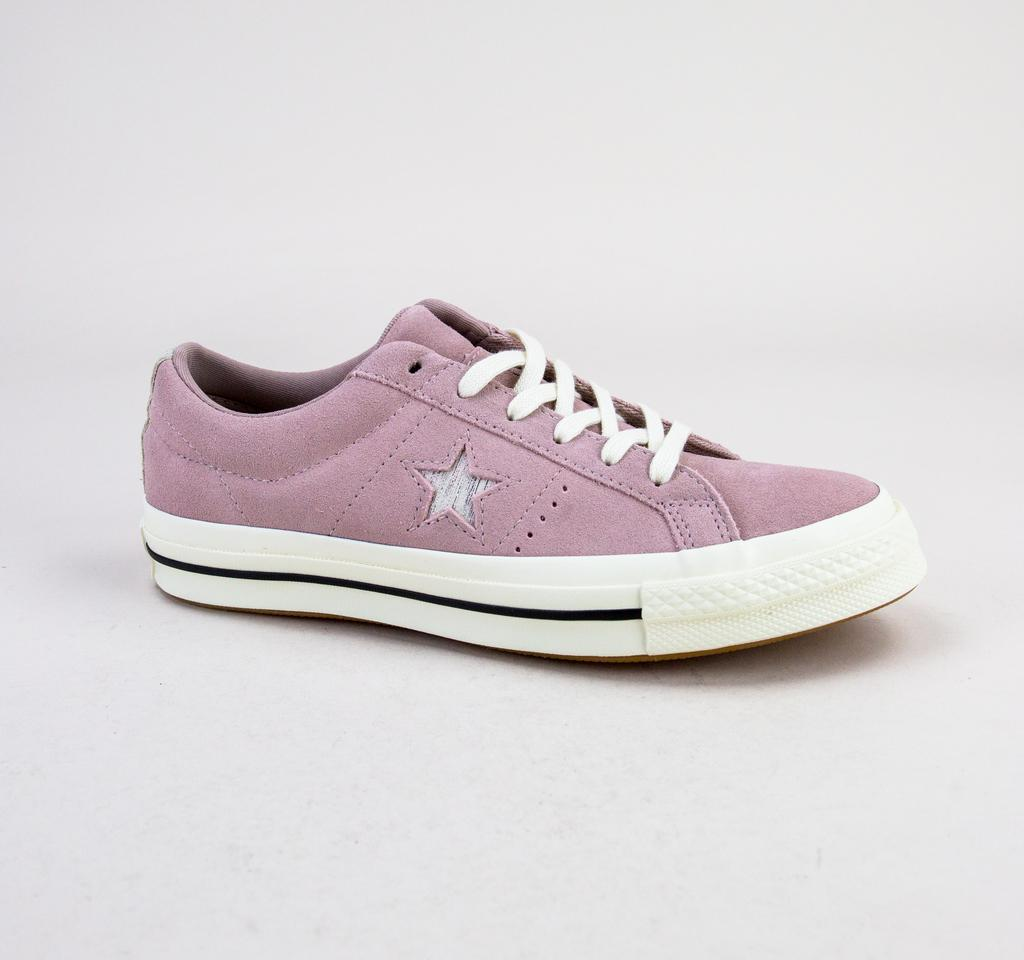 73592d4b89df Converse. Women s 161539c One Star Ox Diffused Taupe-silver-egret Trainers