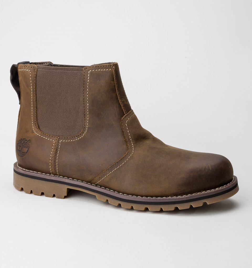 2bf602acadd1 Timberland Larchmont Chelsea Brown Boots in Brown for Men - Lyst