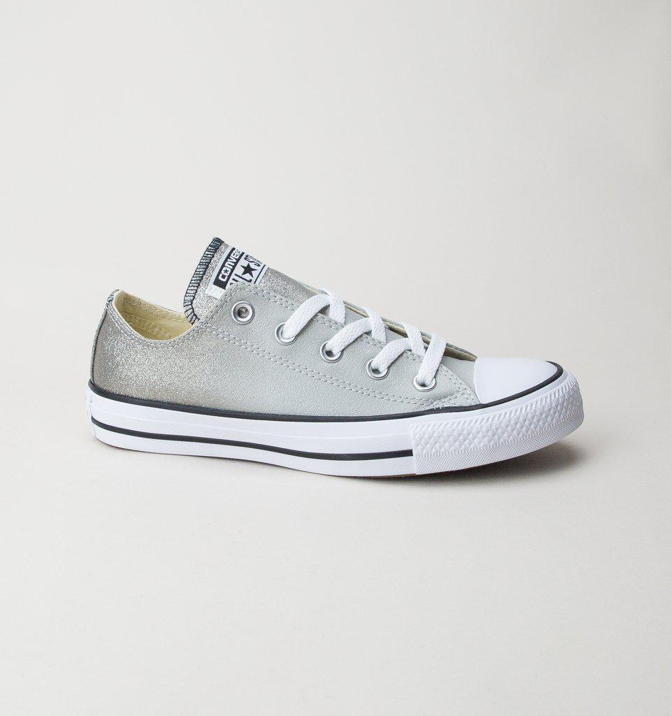 64fc3f762247 Converse 159525c Ct As Ox Ash Grey-black-white Trainers - Lyst