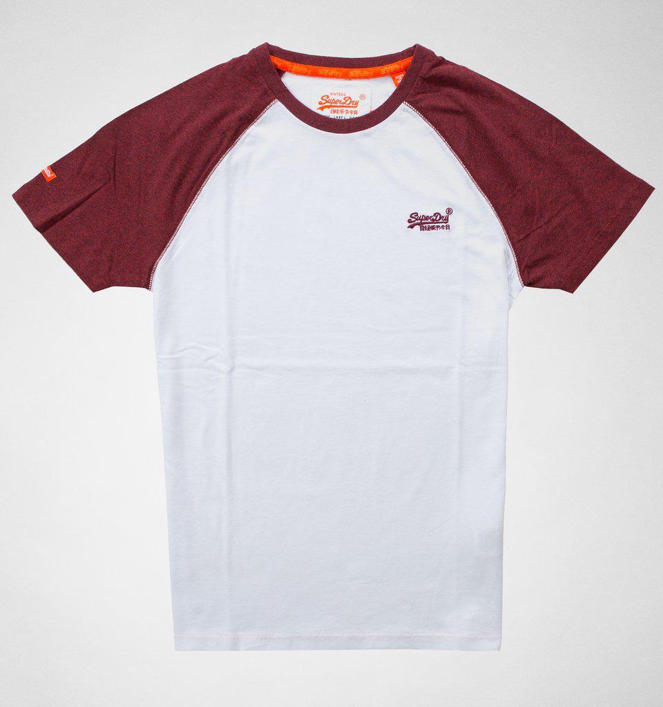 6ae04235 Superdry Orange Label Baseball Tee T-shirts & Vests for Men - Save ...