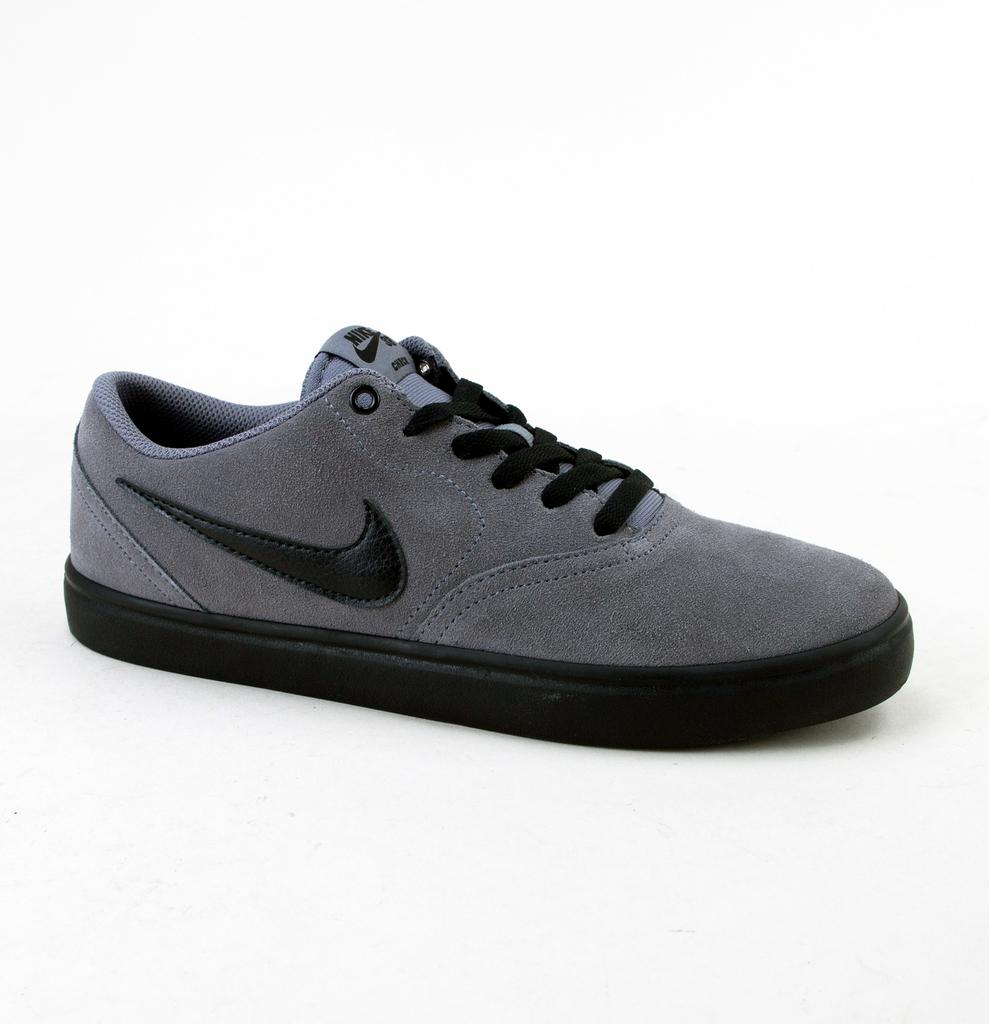 fff1a3c12877 Nike Sb Check Solar Gunsmoke black-white Trainers in Black for Men ...