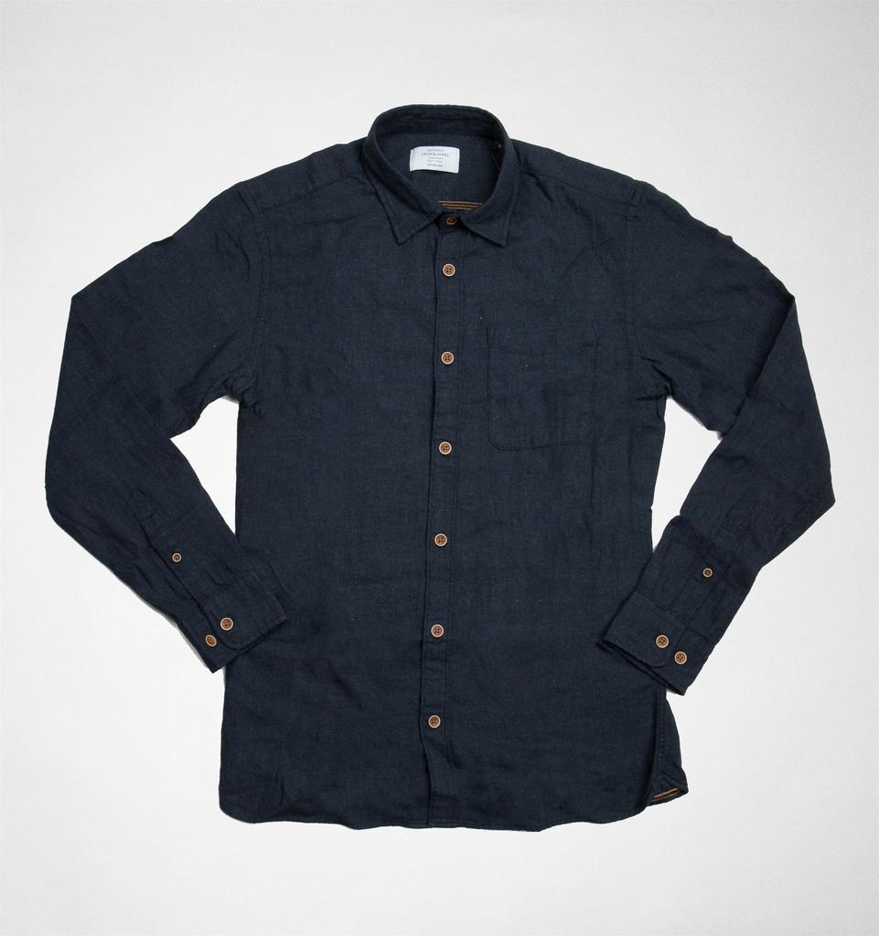 8bf70ac3bd Jack   Jones Jack   Jones Joroliver Shirt Ls One Pocket Black-slim ...