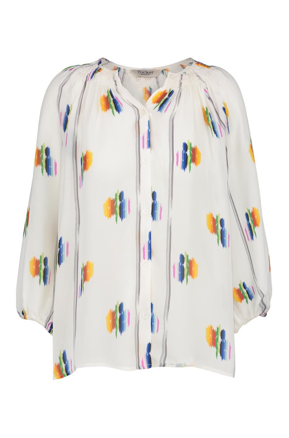 5278917ef69f8 Tucker Classic Blouse In Follow The Rainbow in Blue - Lyst
