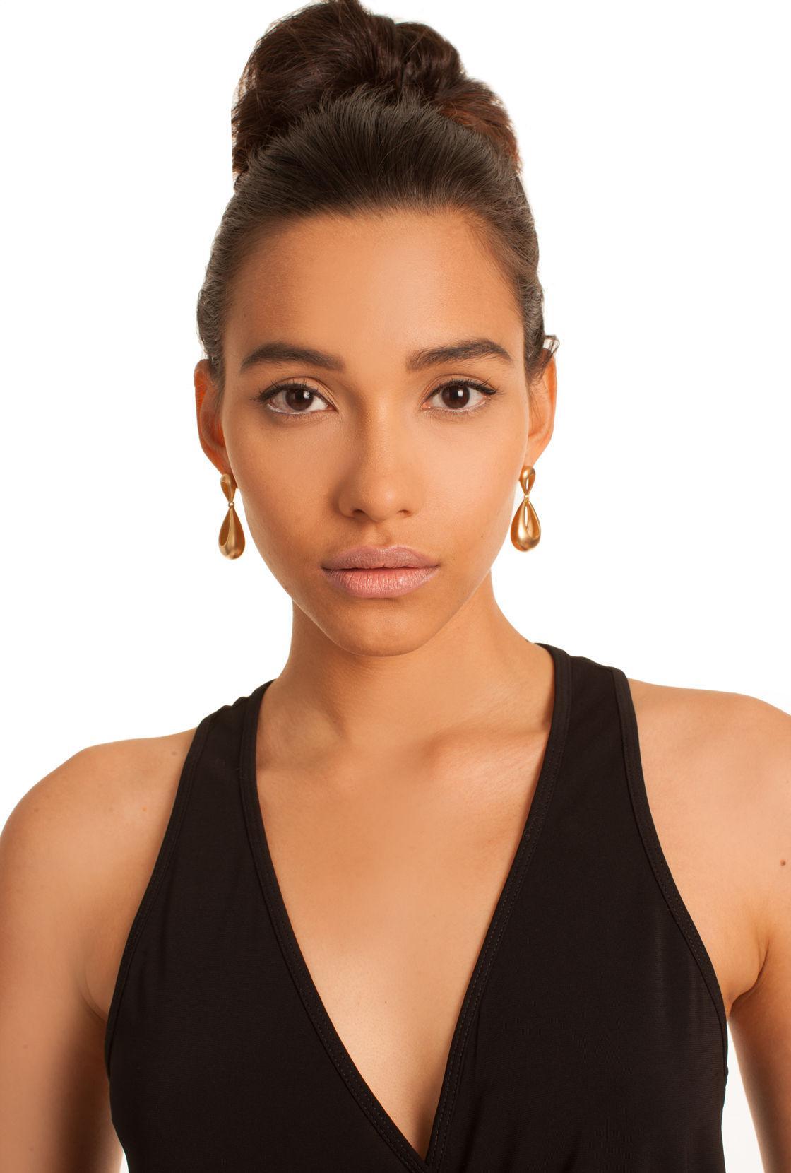 Trina Turk Gold Rush Drop Post Earring in Metallic