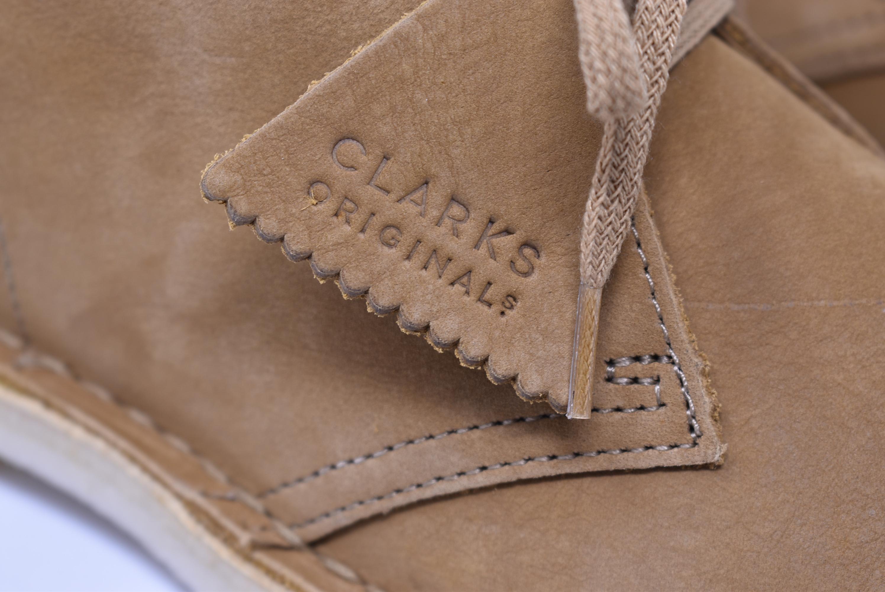 Botas safari de ante (nobuck roble) Clarks de hombre