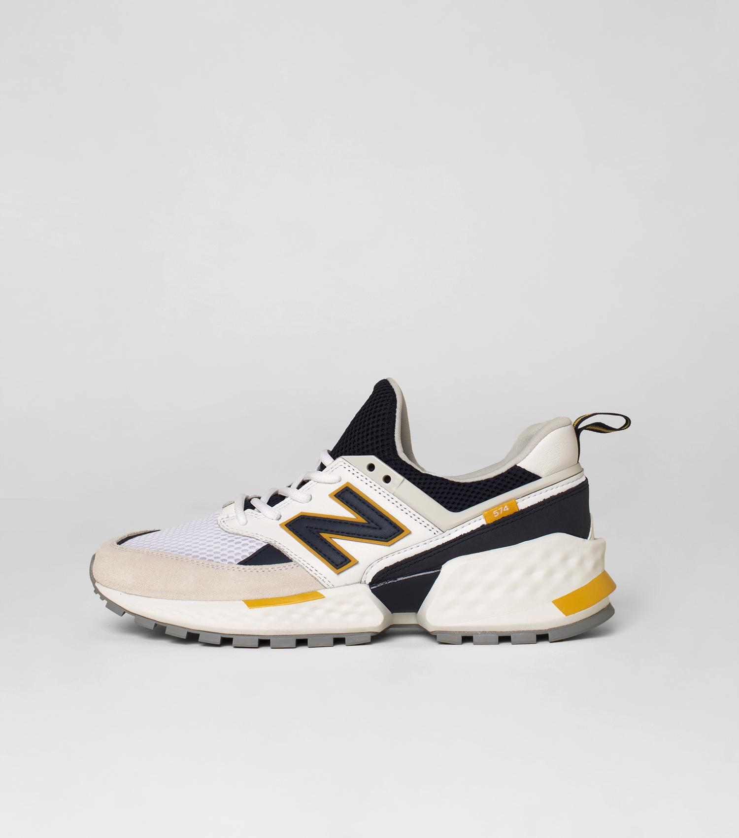 100% authentic 14764 2d853 New Balance Off White & Navy Nb 574 Sport Sneakers for Men ...