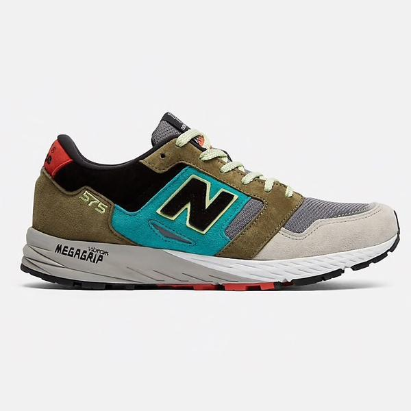 New Balance Mtl 575 St Made In Uk Grey With Green Black for Men - Lyst
