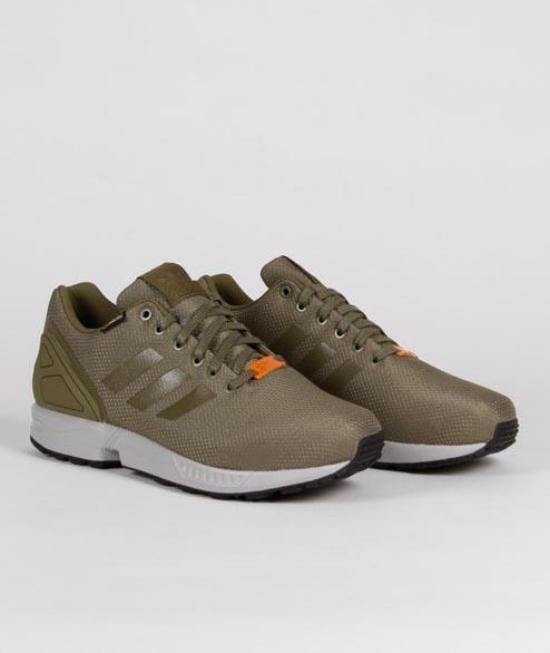 timeless design e8492 dc02e adidas Olive Nylon And Gore Tex Originals Zx Flux Gtx Shoes ...