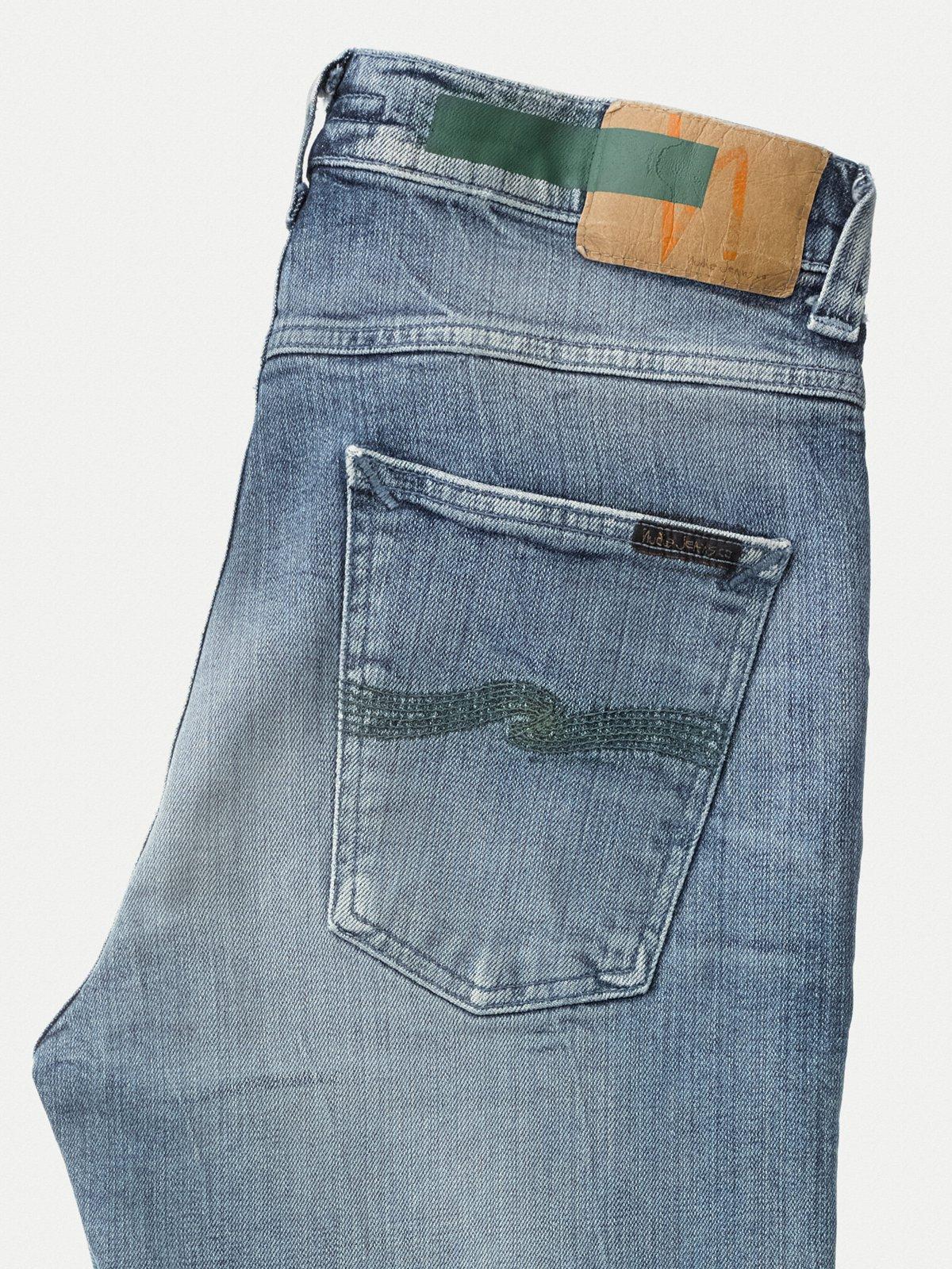 Nudie Jeans Baumwolle Lean Dean Worn In Green BIO-BAUMWOLLE in Blau für Herren 926h5